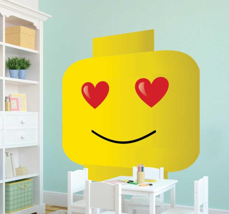Wall sticker Lego innamorato