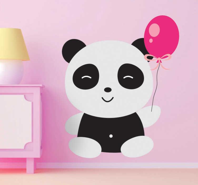 Panda met ballon sticker