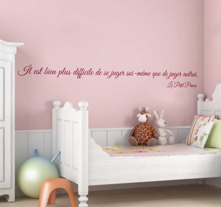 sticker citation petit prince tenstickers. Black Bedroom Furniture Sets. Home Design Ideas