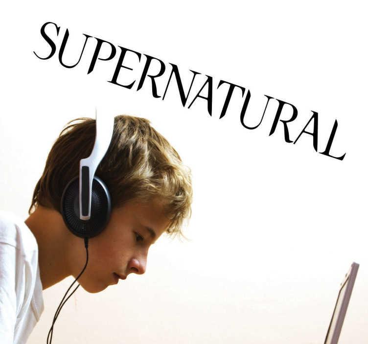 TenVinilo. Vinilo decorativo logo Supernatural. Vinilo decorativo de la serie de televisión Supernatural. Decora las paredes de tu hogar o tus accesorios si eres fan de esta serie.