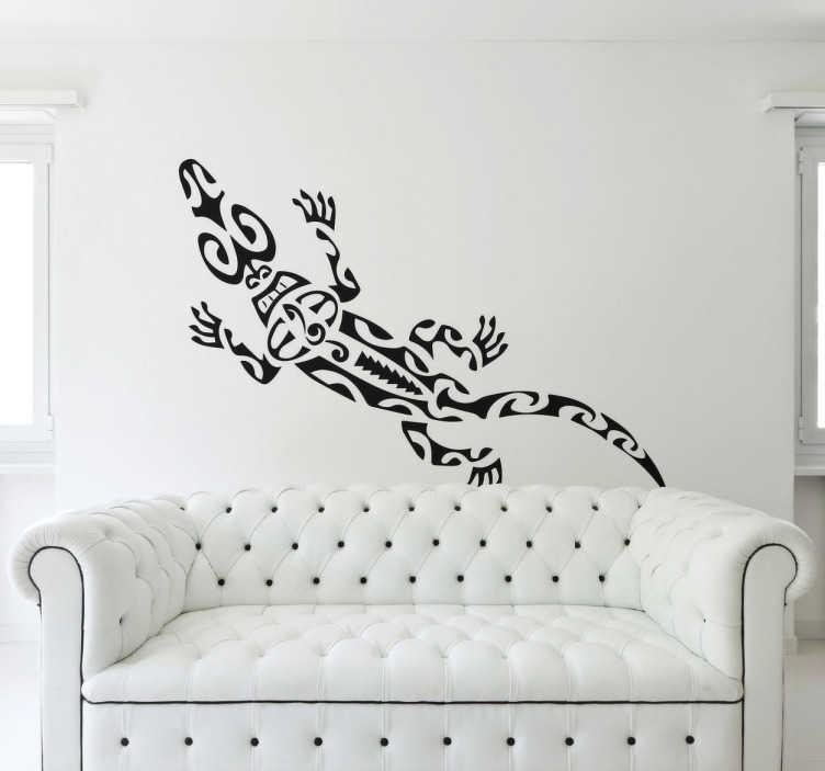 TenStickers. Vinil decorativo salamandra. Vinil decorativo de uma salamandra criada a partir de formas distintas. Adesivo original com o qual podes decorar as paredes do teu espaço.