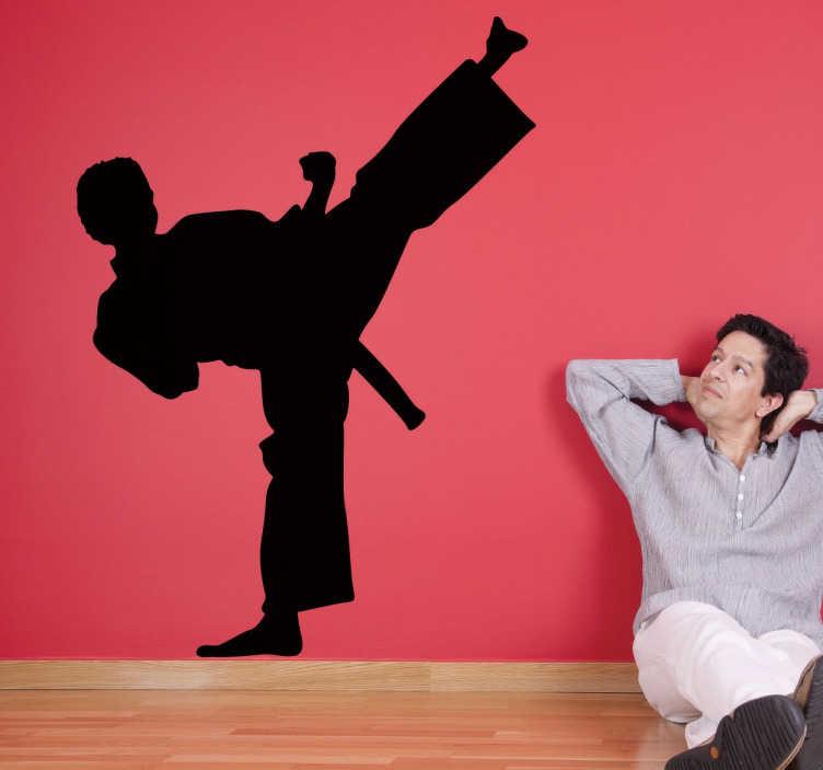 Vinilo decorativo silueta karateka
