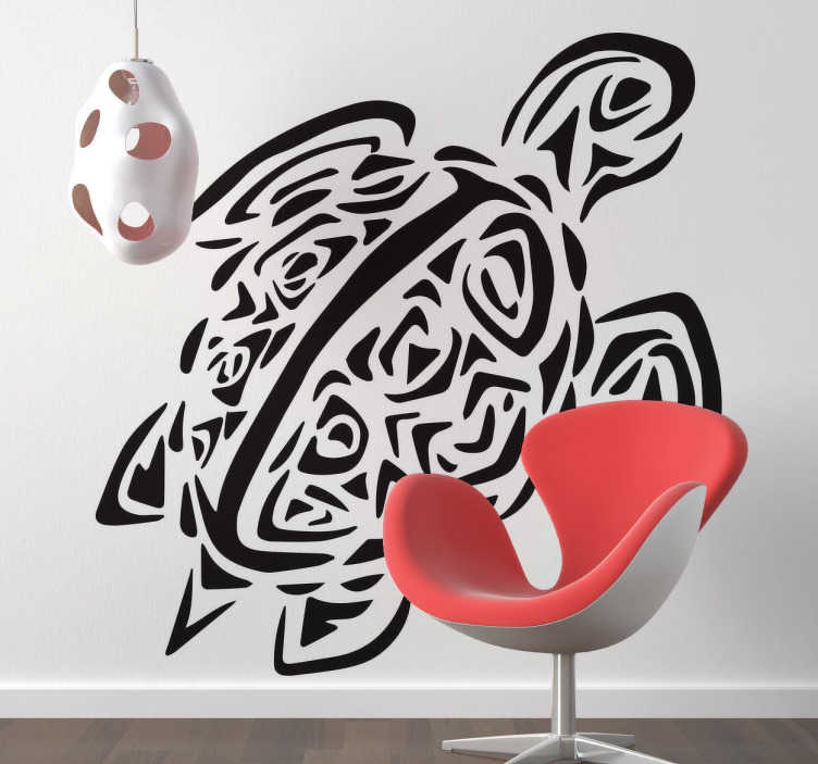 TenStickers. Tribal Turtle Wall Sticker. From our collection of animal wall stickers, a mono-colour design of a tribal style sea turtle.
