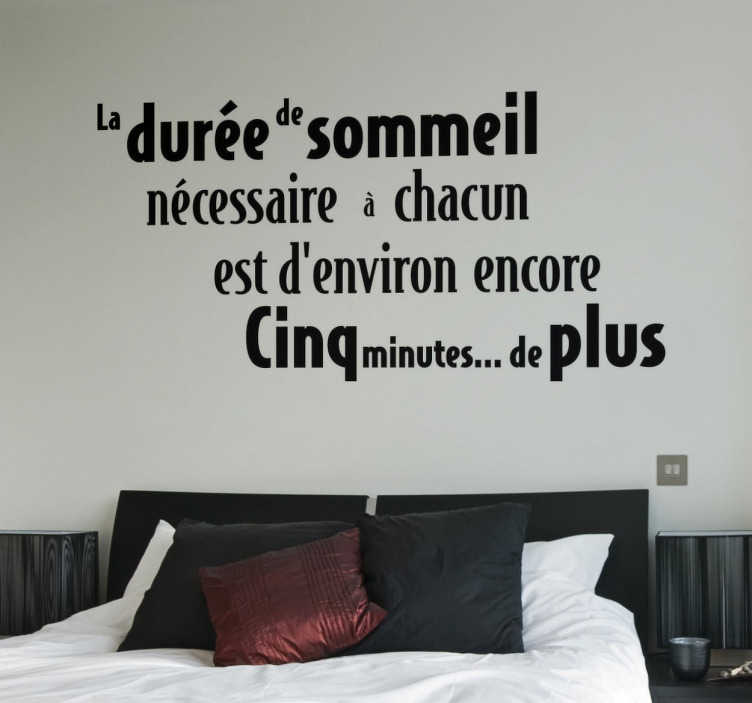 sticker citation sommeil tenstickers. Black Bedroom Furniture Sets. Home Design Ideas