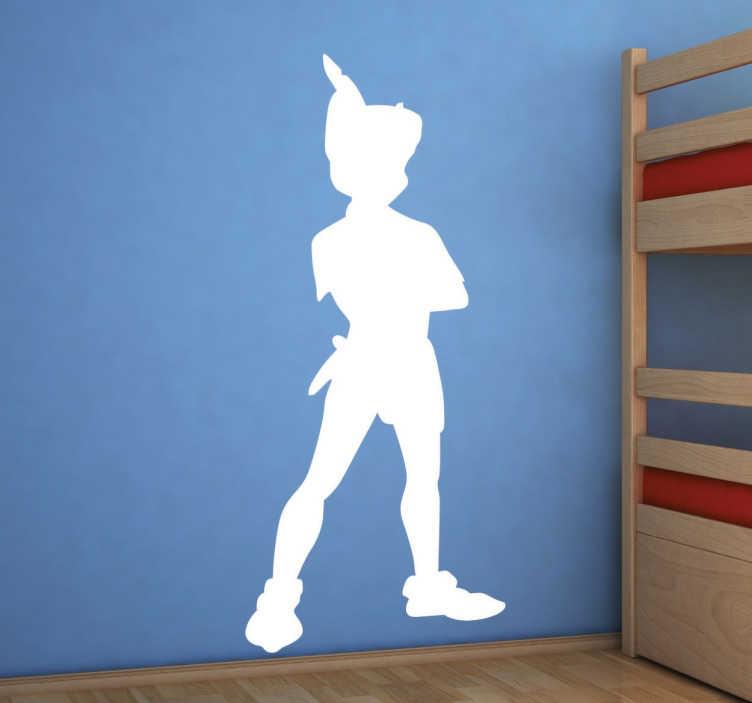 TenVinilo. Vinilo infantil sombra Peter Pan. Sticker decorativo de Peter Pan para decorar y ambientar la habitación de tus hijos.