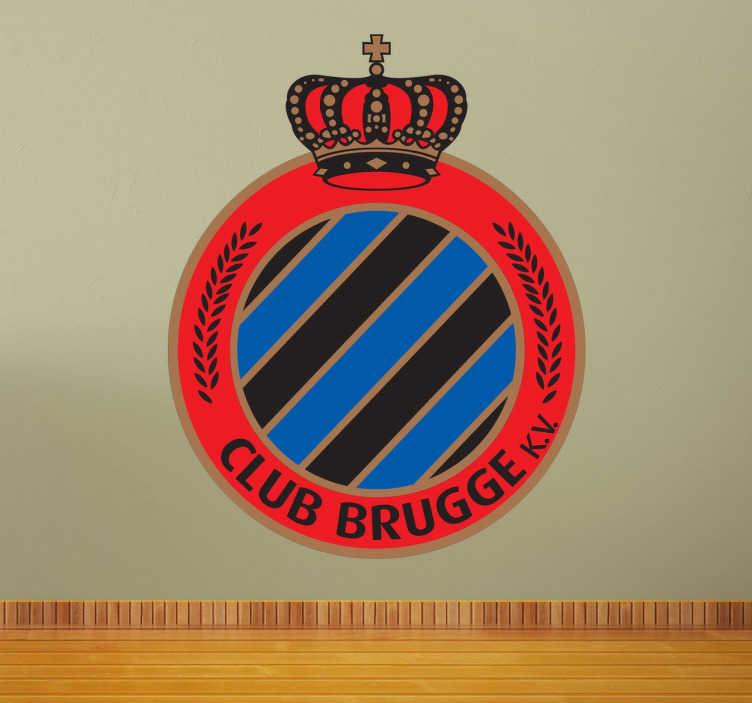 TenStickers. Club brugge sticker. Maak de voetbalkamer helemaal af met deze muursticker, perfect voor alle fans van Club Brugge. Afmetingen aanpasbaar. Ook voor ramen en auto's.