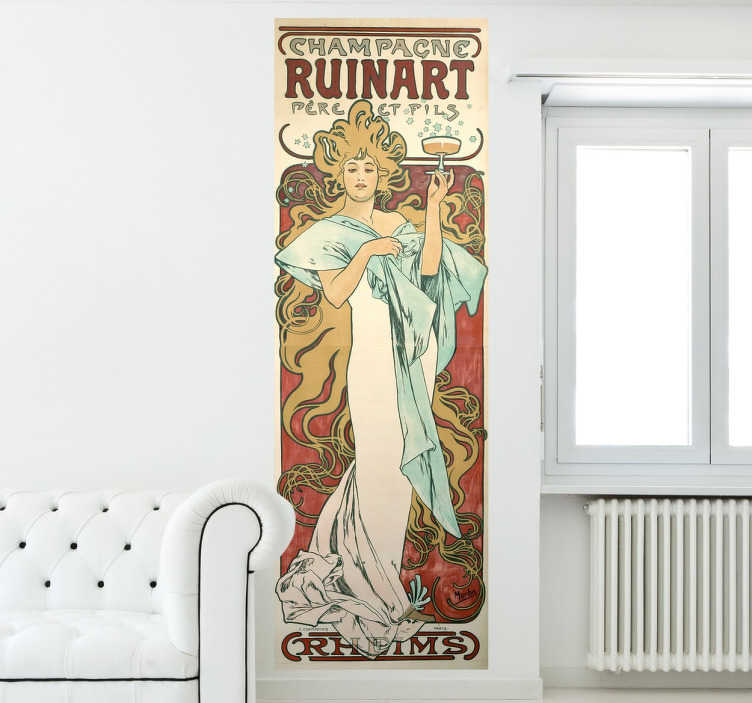 Sticker decorativo Alfons Mucha