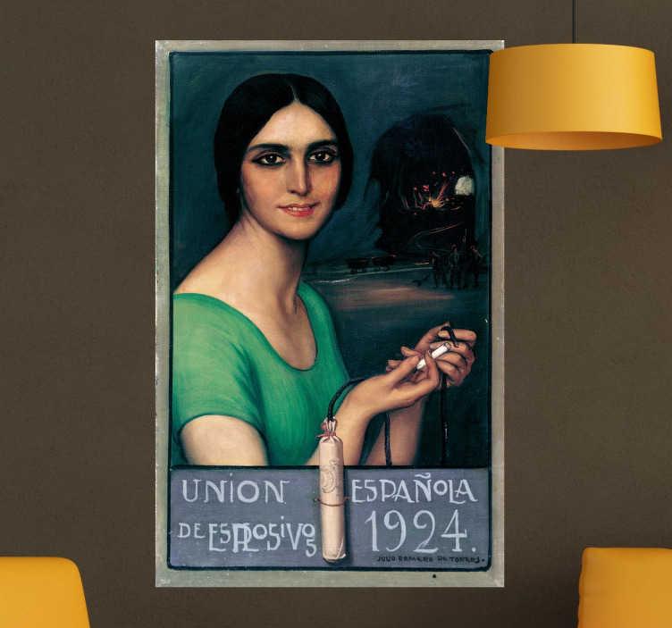 TenStickers. Vinilo póster retro años 20. Vinilos artísticos con la recreación de un cartel publicitario de principios del siglo XX.