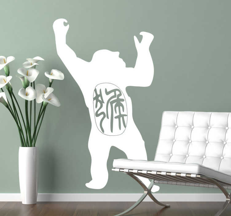 TenStickers. Year of the Gorilla Decorative Wall Sticker. If you're into astrology, this is the wall sticker for you! Featuring the silhouette of a gorilla and Chinese text