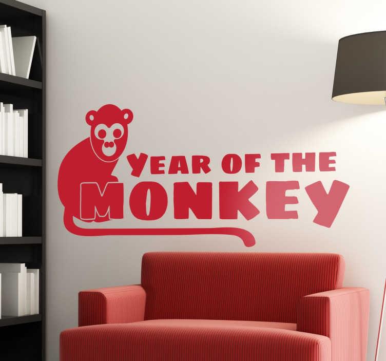 TenVinilo. Vinilo decorativo year of the monkey. Vinilos para decoración de inspiración oriental para conmemorar el nuevo año chino del mono.
