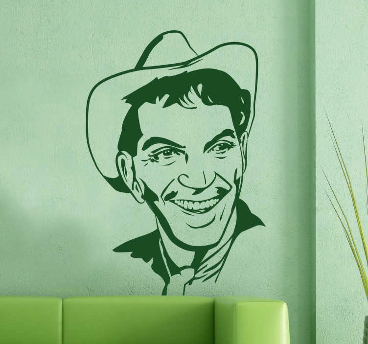 TenVinilo. Vinilo decorativo retrato Cantinflas. Vinilos de personajes clásicos del cine, en este caso un divertido retrato de Mario Moreno Cantinflas