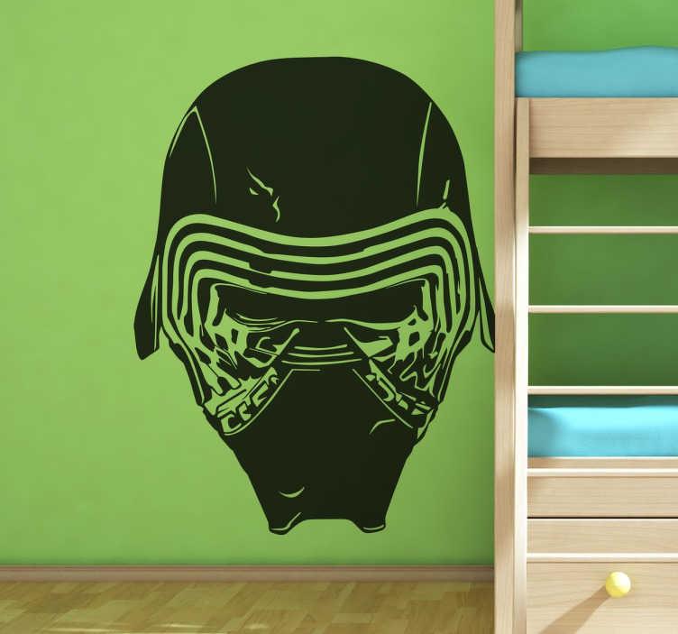 TenVinilo. Vinilo Star Wars mascara Kylo Ren. Vinilo Guerra de las Galaxias con una reproducción del malvado principal de la nueva saga de Star Wars.