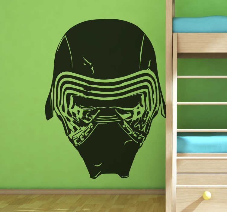 TenStickers. Sticker Star Wars masque Kylo Ren. Sticker mural représentant le méchant dans le dernier film de la saga Star Wars.