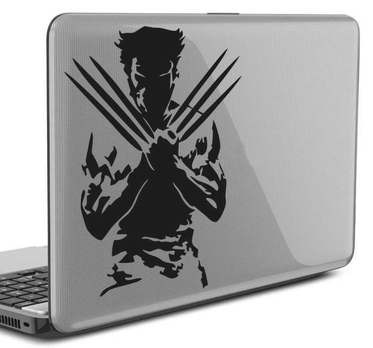 Sticker ordinateur portable Wolverine