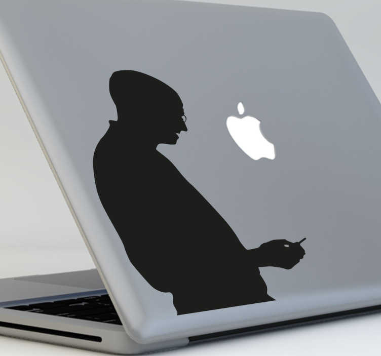 Sticker silhouette Steve Jobs