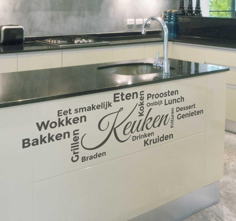 Keuken Woorden Eten Tekst Sticker Tenstickers