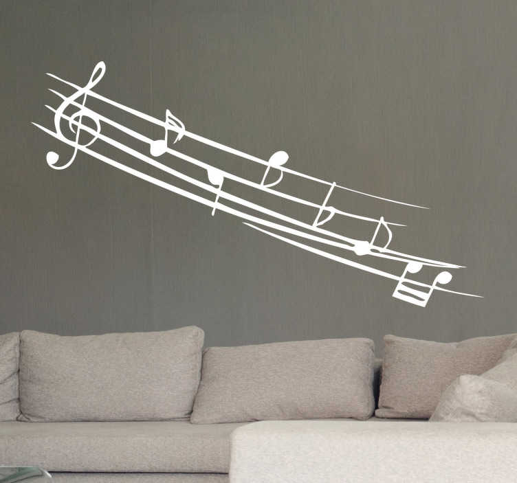 TenStickers. Musical Notes Monochrome Decal. Room Stickers - Passionate about music? Then this music decal is perfect for you! Gorgeous monochrome wall sticker to brighten up any room.