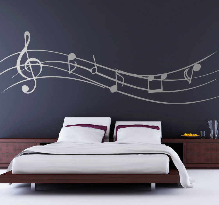TenStickers. Musical Notes Wall Sticker. A decorative decal of musical notes to decorate any smooth surface. A fascinating sticker that is customisable in colour!