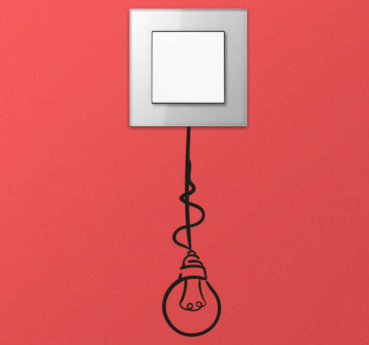TenStickers. Bulb Pendant Switch Sticker. Switches and sockets decal, ideal to give an alternative and fun touch to any room.