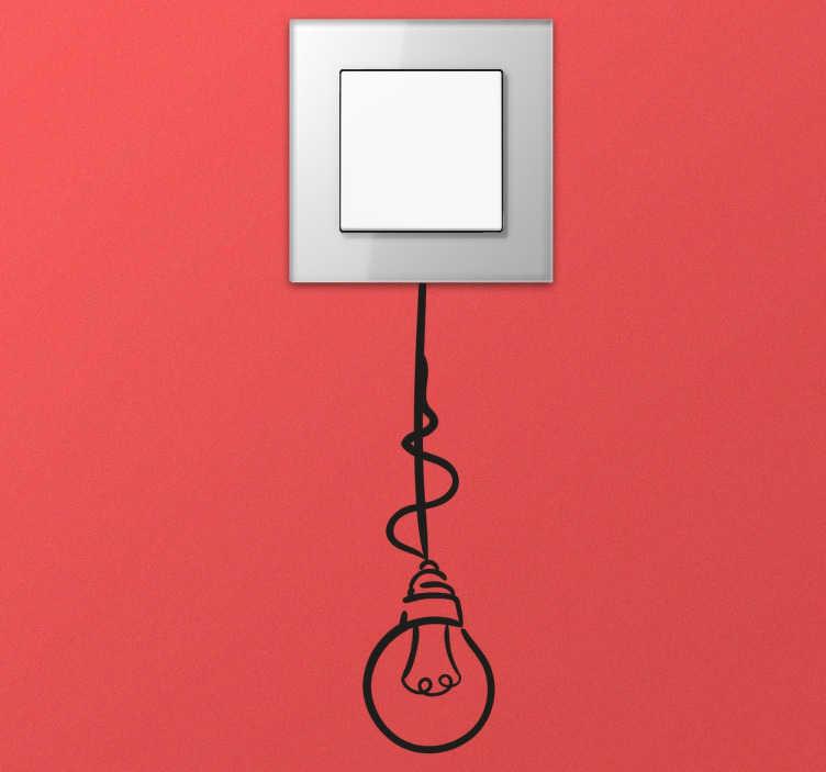 TenStickers. Lichtschalter Sticker Glühbirne. Dekorativer Aufkleber für eure Lichtschalter und Steckdosen. ideal für ein anderes Element zu diesem Haus so typisch für Note.