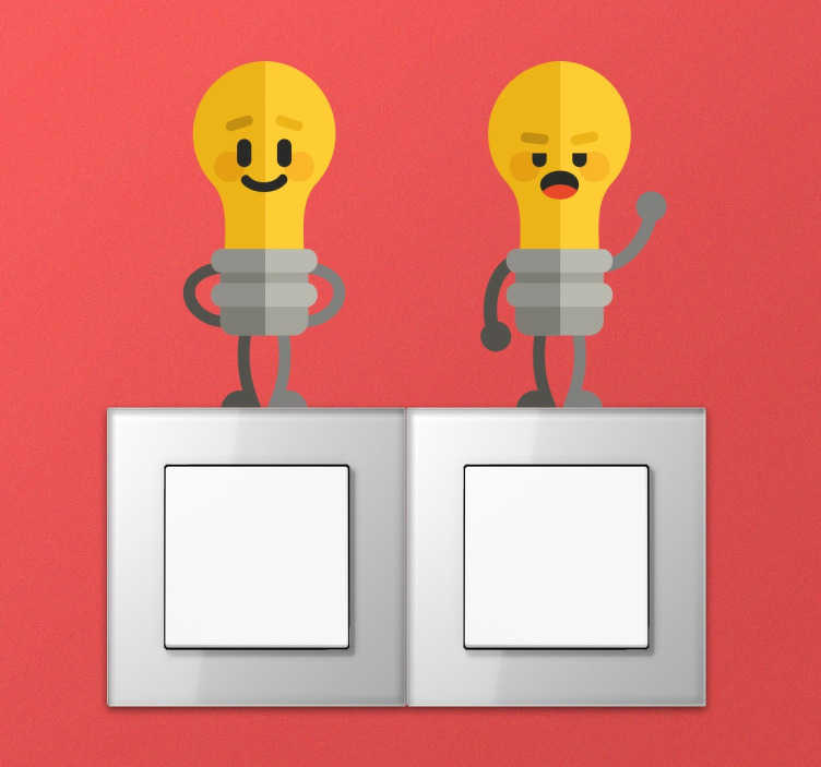 TenStickers. Light Bulb Switch Sticker Set. Decorate the switches of your kids room with this collection of stickers with fun illustrations of cute light bulbs.