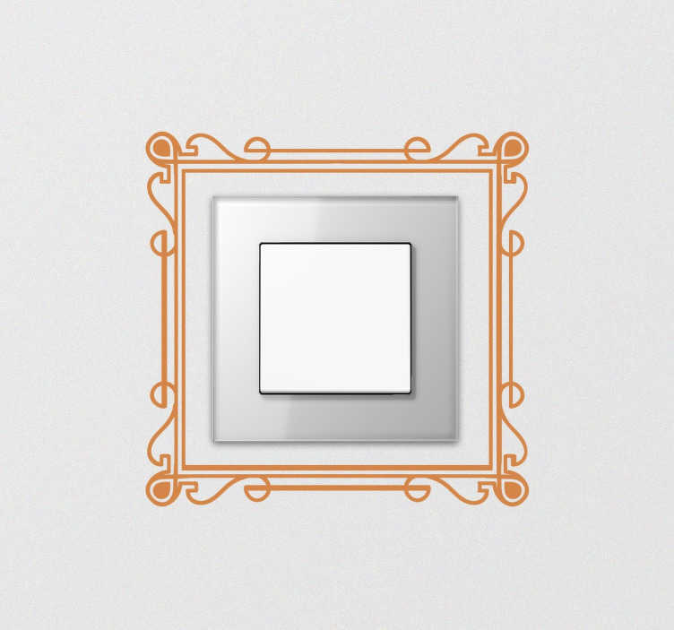 TenStickers. Elegant Frame Switch Sticker. From our collection of switch decals, an elegant design of an art deco inspired frame to add a stylish look to your home.