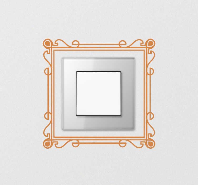 Naklejka na włącznik światła ramka metalowa