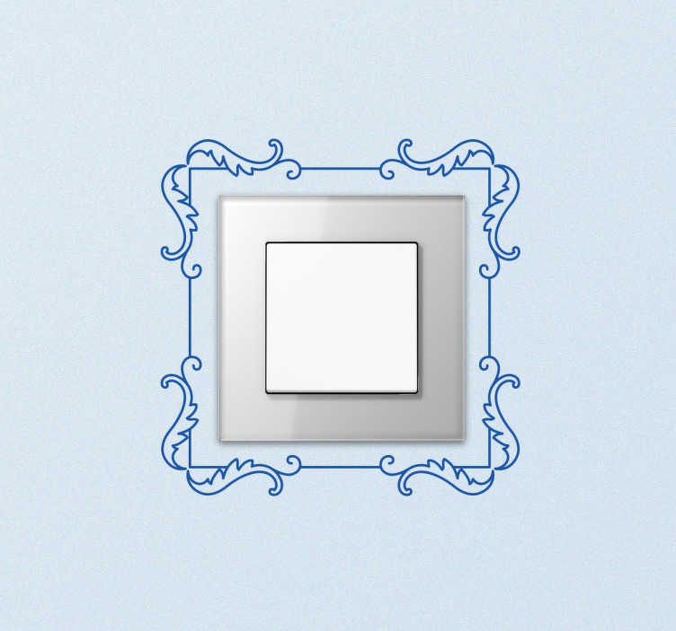Vinilo decorativo para interruptores enmarcado