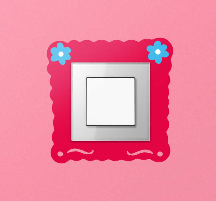 TenStickers. Flower Frame Light Switch Sticker. A wall decal designed especially to be placed around your light switches to add a sweet and decorative touch.