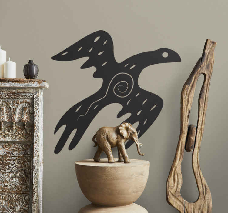 TenStickers. African Bird Wall Sticker. Wall Stickers - Silhouette illustration of a bird with an african style. Available in 50 colours and in various sizes.