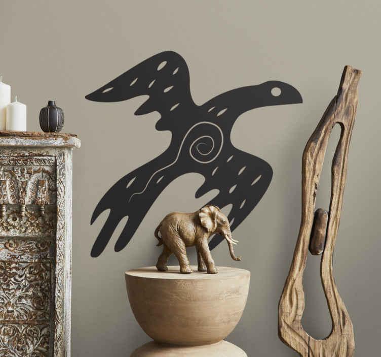 TenStickers. Ethnischer Vogel Aufkleber. Mit diesem ausgefallenen Vogel Wandtattoo Design können Sie Ihrer tristen Wand einen neuen Look verpassen. Wählen Sie ihre Lieblingsfarbe aus.