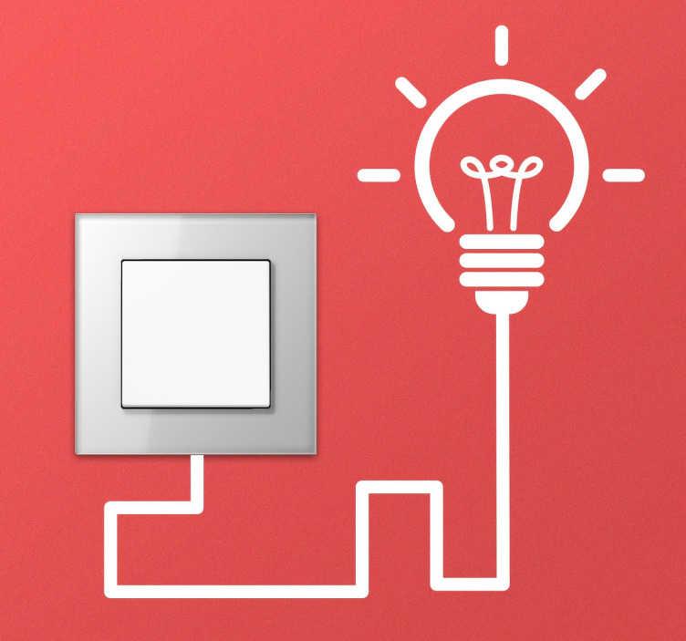 TenStickers. Vinil Decorativo Lâmpada Interruptor. Vinil decorativo para personalizar a sua casa, faça com que os pequenos detalhes de sua casa como um interruptor seja um bom motivo de decoração.