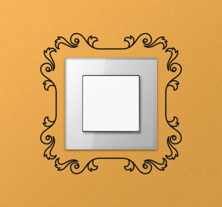 TenStickers. Decorative Frame Switch Sticker. Elegant plug decal designed to give a touch of class to any room in your home.
