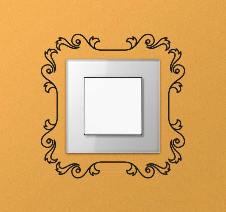 Sticker interrupteur contour fin
