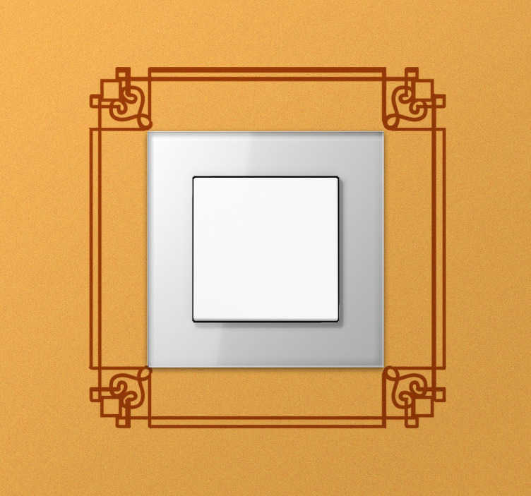 TenStickers. Decorative Frame Light Switch Sticker. From our collection of switch and plug stickers, an elegant decorative frame to add a delicate touch to any room in your home.