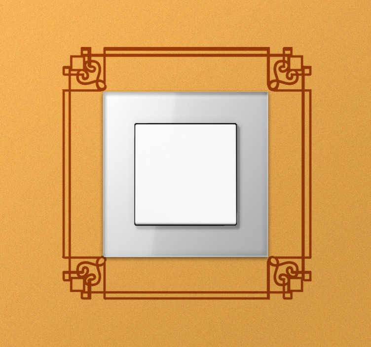 Sticker interruttore elegante