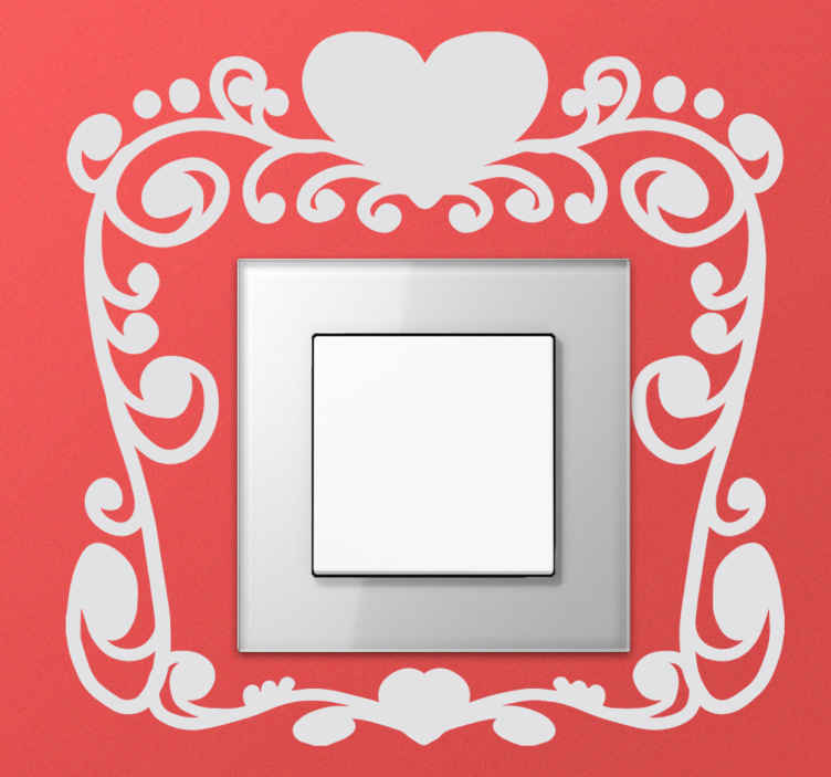 TenStickers. St Valentine Switch Sticker. Elegant and romantic switch decal to create a unique atmosphere at home.