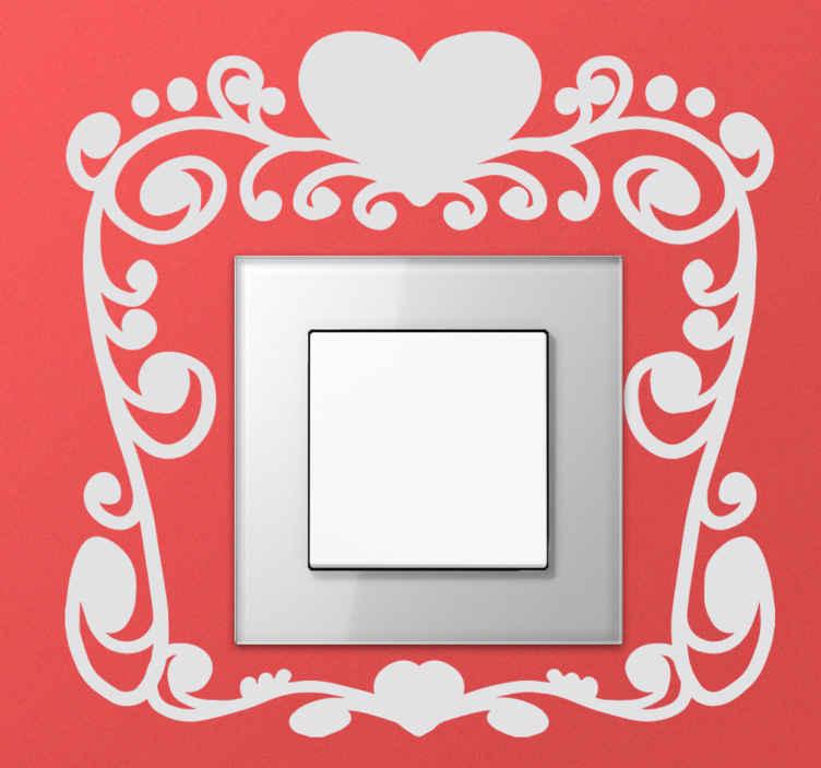 TenStickers. Interrupteur St Valentin. Avec ce sticker pour interrupteur et prise spécial St Valentin, remplissez votre pièce d'amour et de romantisme.
