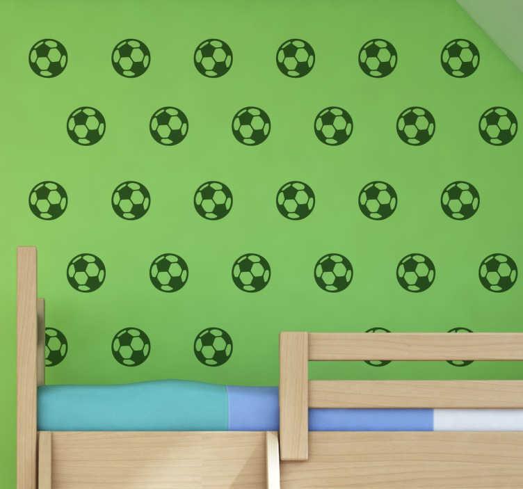 TenStickers. Adesivo bolas de futebol. Adesivo futebol pensado para a decoração de quartos juvenis e infantis.