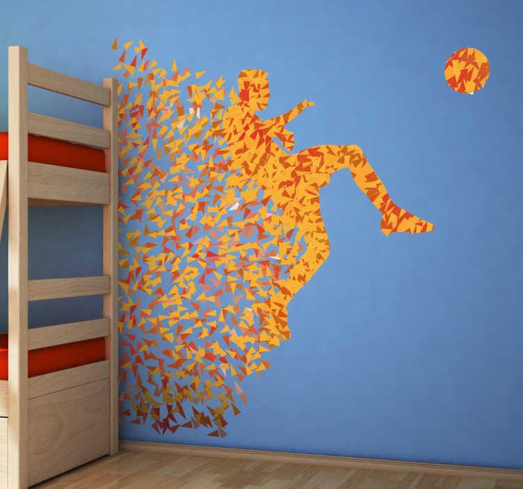 Naklejka dekoracyjna piłkarz origami