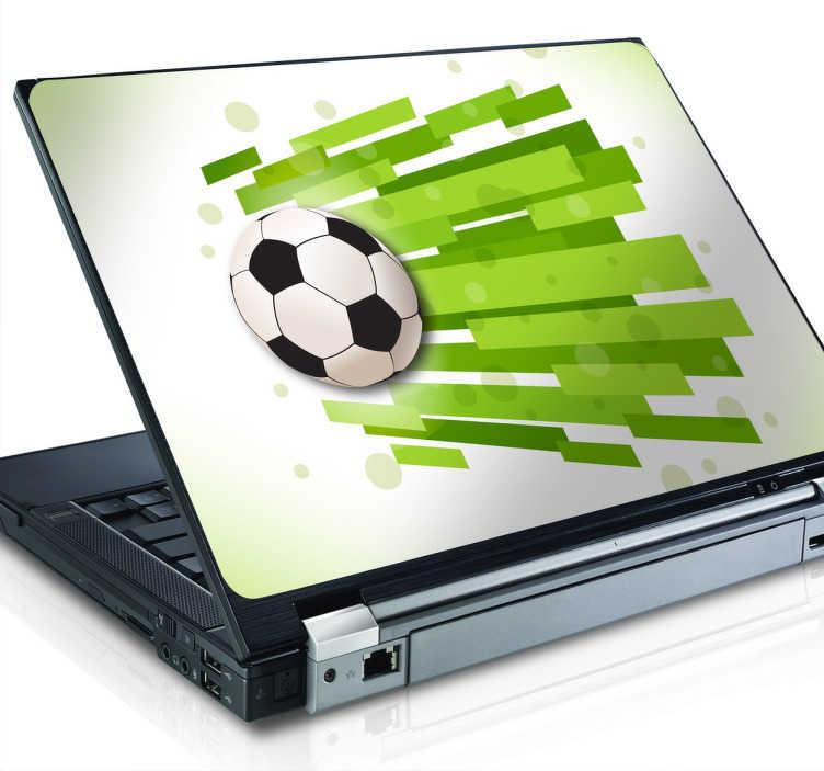 TenStickers. Naklejka na laptopa futbol. Naklejka na laptopa dla wszystkich fanów piłki nożnej.