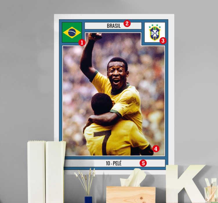 TenStickers. Sticker personalizzato figurina calciatore. Wall sticker decorativo che raffigura una figurina da calcio che tu puoi personalizzare con la foto di tuo figlio.