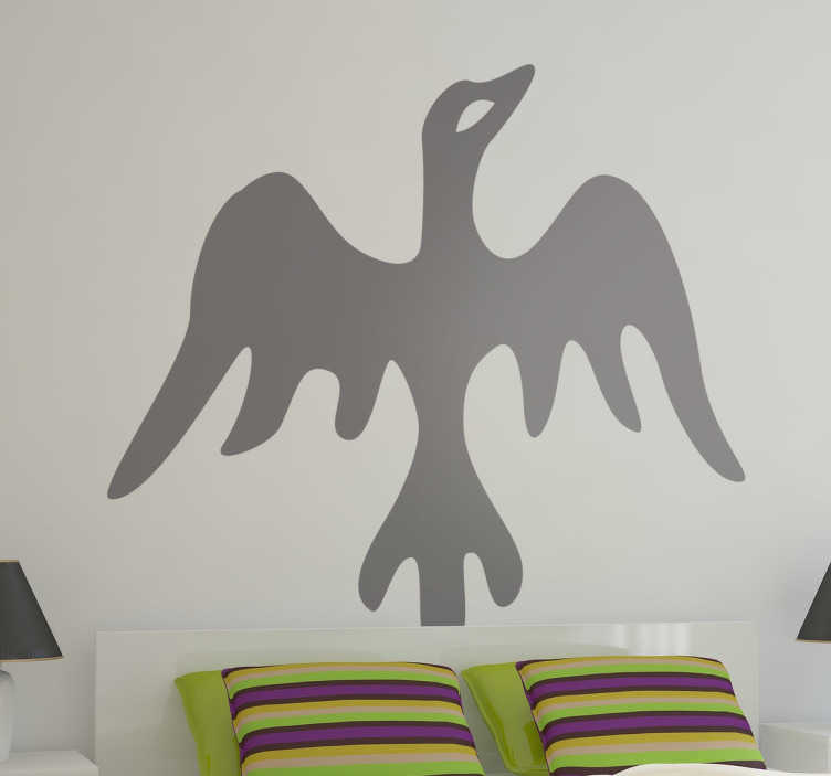 TenStickers. Tribal Bird Wall Sticker. Wall Stickers - Silhouette illustration of a bird with an african style. Available in 50 colours and in various sizes.
