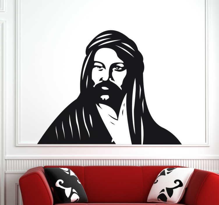 TenStickers. Naklejka dekoracyjna Ali Baba. Naklejka dekoracyjna dla fanów baśni tysiąca i jednej nocy. Naklejka z postacia Ali Baby. Naklejka na każdą gładka powierzchnię.