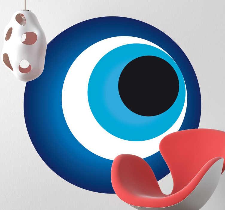 TenStickers. Naklejka dekoracyjna pawie oko. Naklejka dekoracyjna rodem z Turcji przypominająca pawie oko lub nazar czyli tradycyjny turecki amulet.