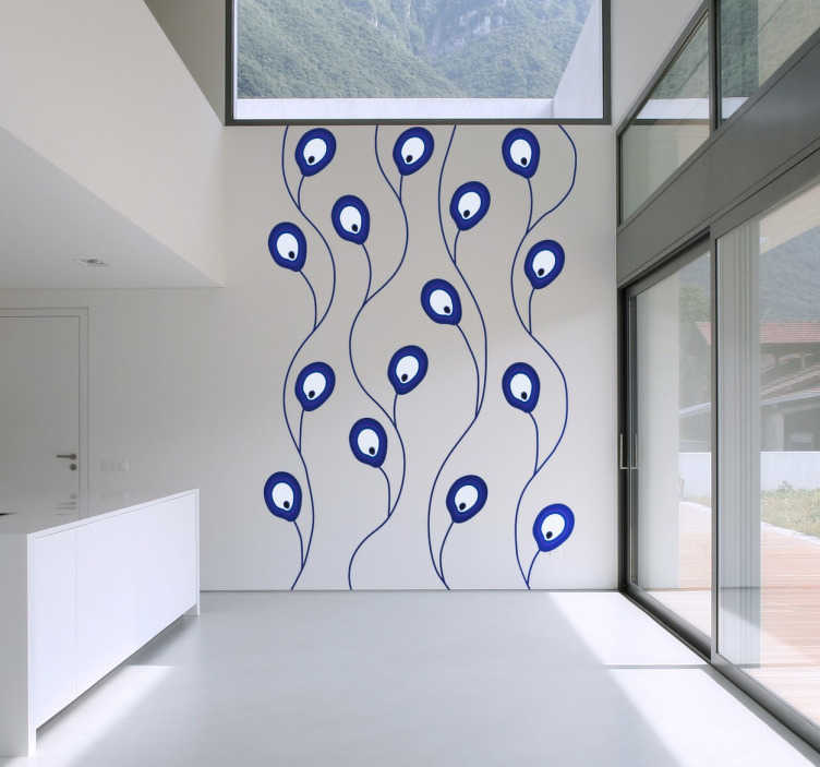 TenStickers. Connected Nazar Amulet Wall Sticker. A decorative wall sticker representing interconnected Nazar Amulets. A nazar is an eye shaped amulet or symbol