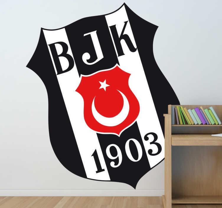 TenVinilo. Vinilo decorativo escudo Besiktas. Adhesivo decorativo del Besiktas, uno de los clubs más emblemáticos de Turquía.  Este club ubicado en la ciudad de Estambul.
