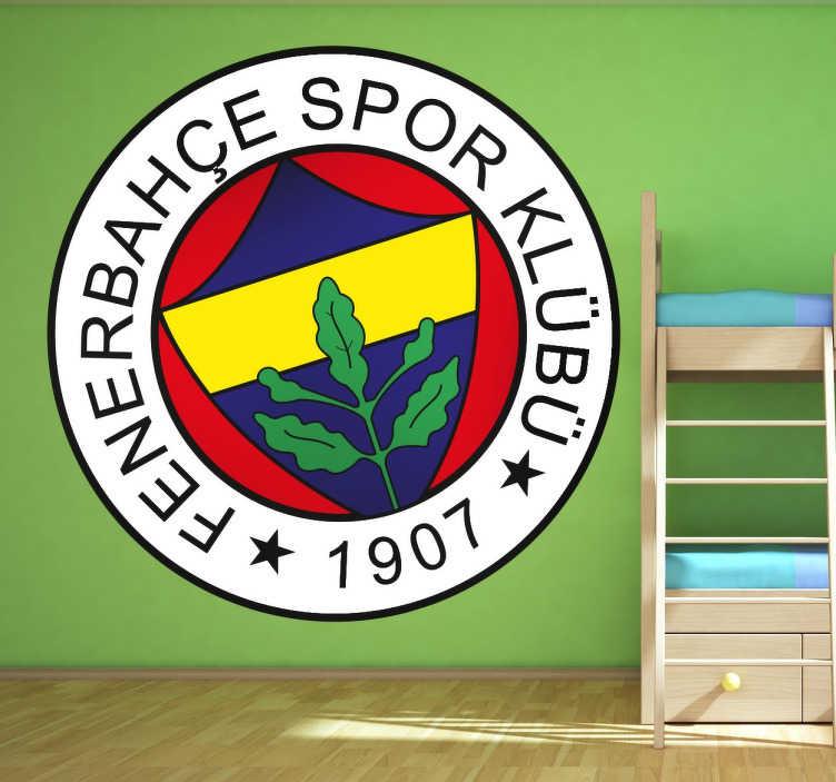 TenVinilo. Vinilo decorativo escudo Fenerbahçe. Pegatina decorativa redonda del escudo del Fenerbahçe, un club que forma parte de Turquía.