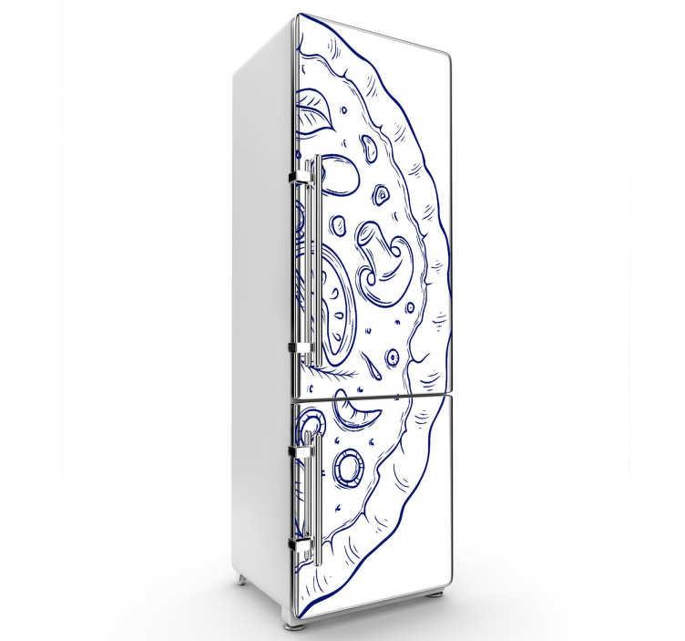 Sticker porte de frigo pizza tenstickers - Stickers frigo 2 portes ...