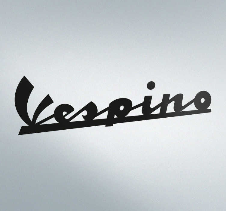 TenVinilo. Vinilo decorativo logotipo Vespino. Adhesivos para motos con la imagen corporativa de esta famosa marca de motocicletas española. +10.000 Opiniones satisfactorias